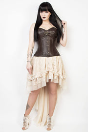 Langley Ivory Lace Gothic Skirt