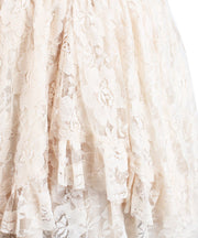 Langley Custom Made Ivory Lace Gothic Skirt