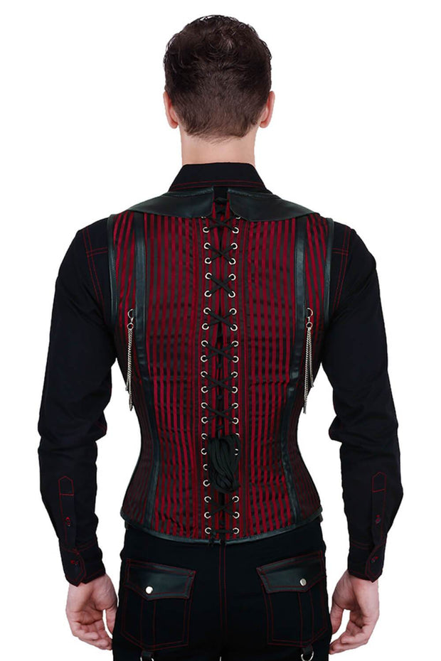 Alaric Steel Boned Gothic Men's Corset