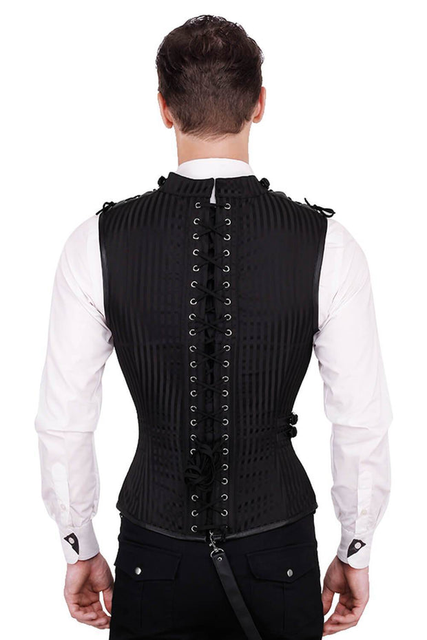 Asphodel Custom Made Gothic Men's Overchest Corset
