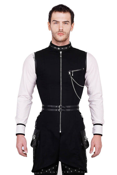 Azrael Custom Made Cotton Gothic Men's Overchest Corset