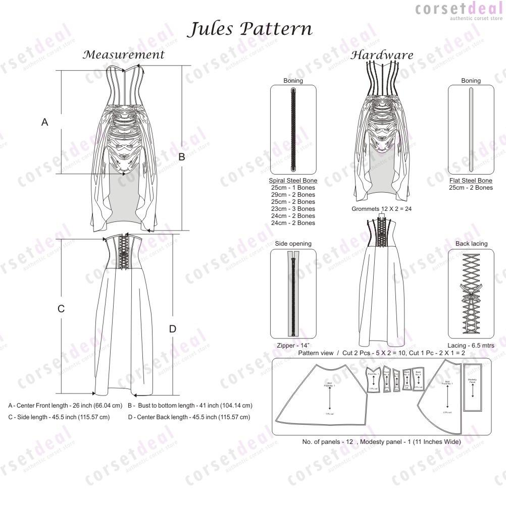 Burg Gothic Corset Dress