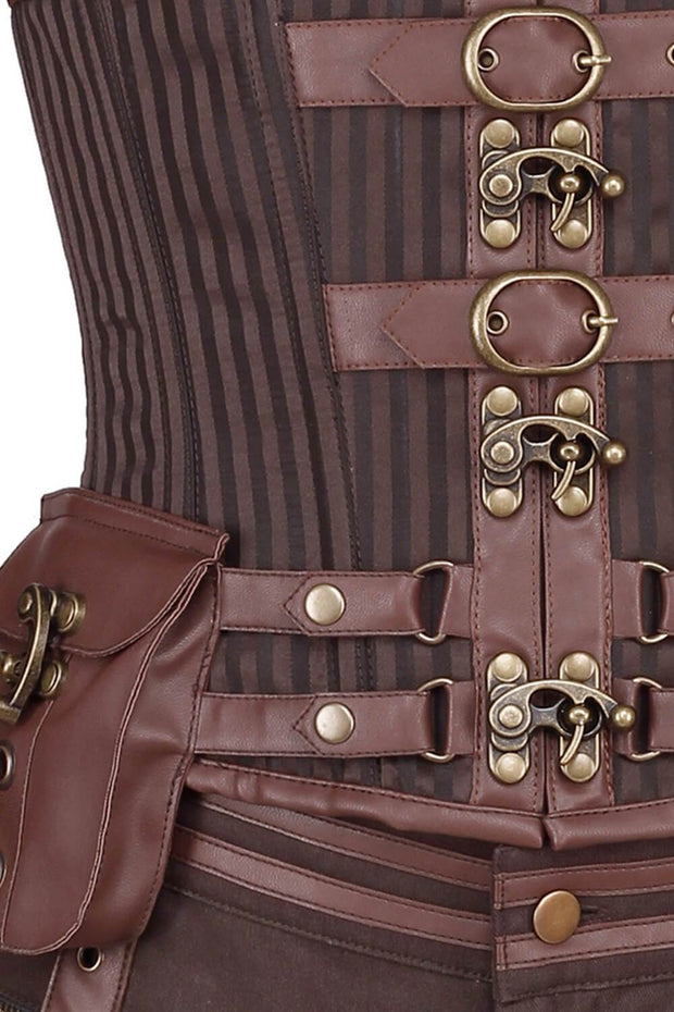 Dettmar Steampunk Men's Midchest Corset