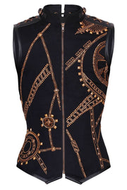 Dominik Embroidered Cotton Men's Corset