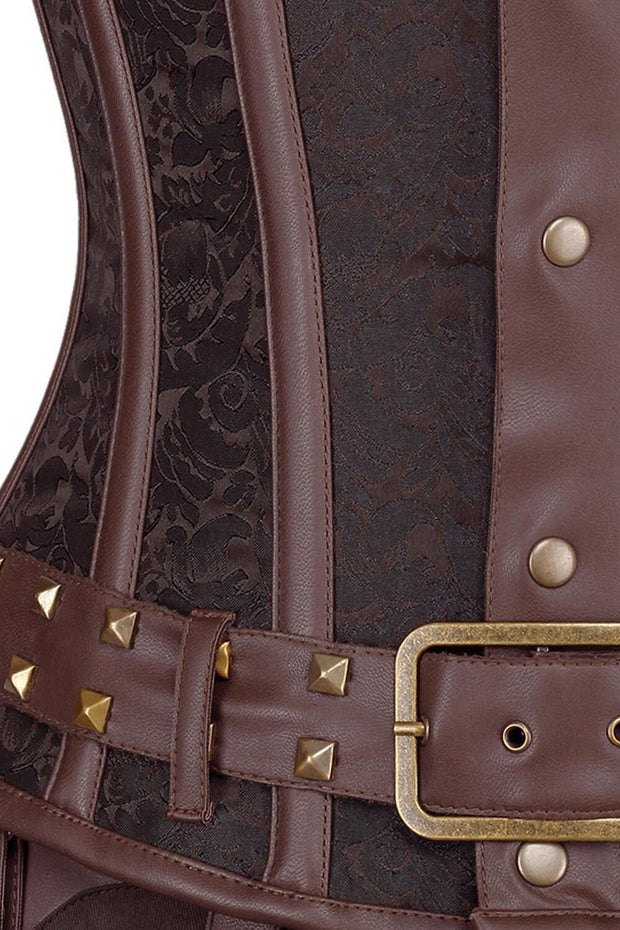 Eberwin Steampunk Brocade Men's Corset