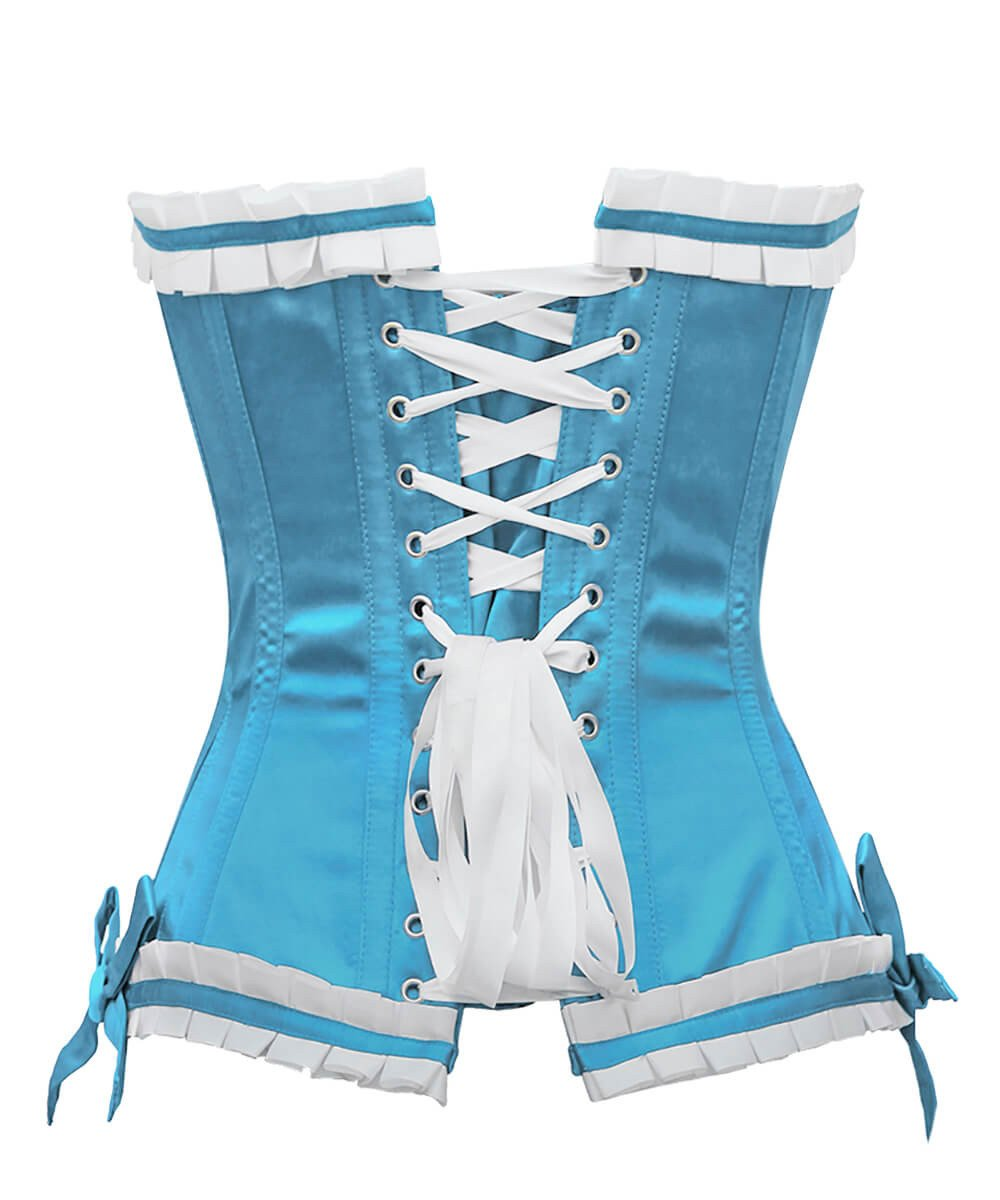 Terell Burlesque Turquoise Overbust Corset