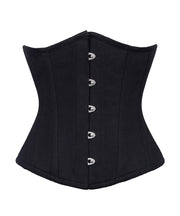 Black Cotton Underbust Corset