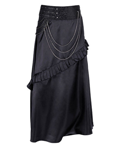 Rowland Black Steampunk Layered Skirt