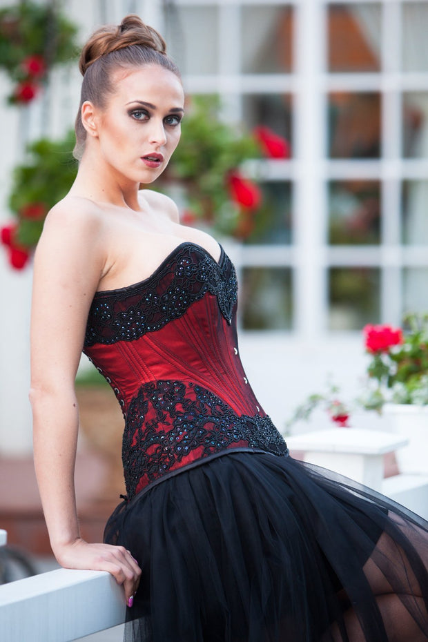 Brys Custom Made Lace Overlay Overbust Couture Corset