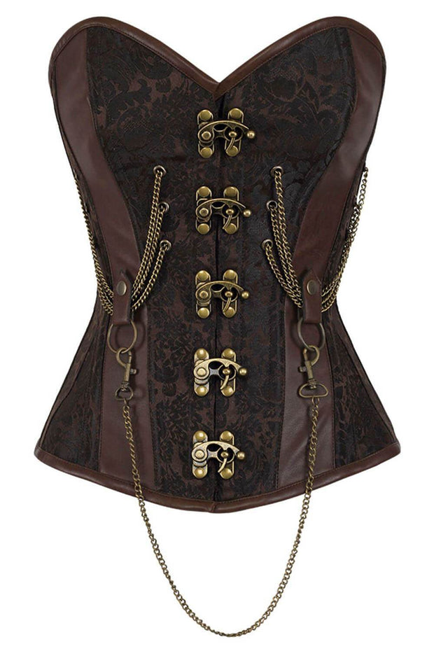 Emmery Custom Made Steampunk Corset with Chains