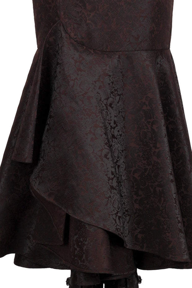 Haman Custom Made Brown Steampunk Ruffle Skirt
