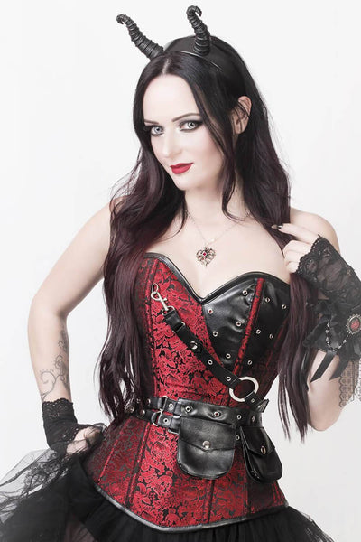 Vladmir Custom Made Brocade Steampunk Corset with Detachable Belt