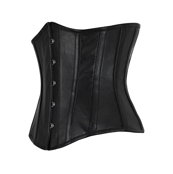Carletta Genuine Sheep Napa Leather Underbust Corset
