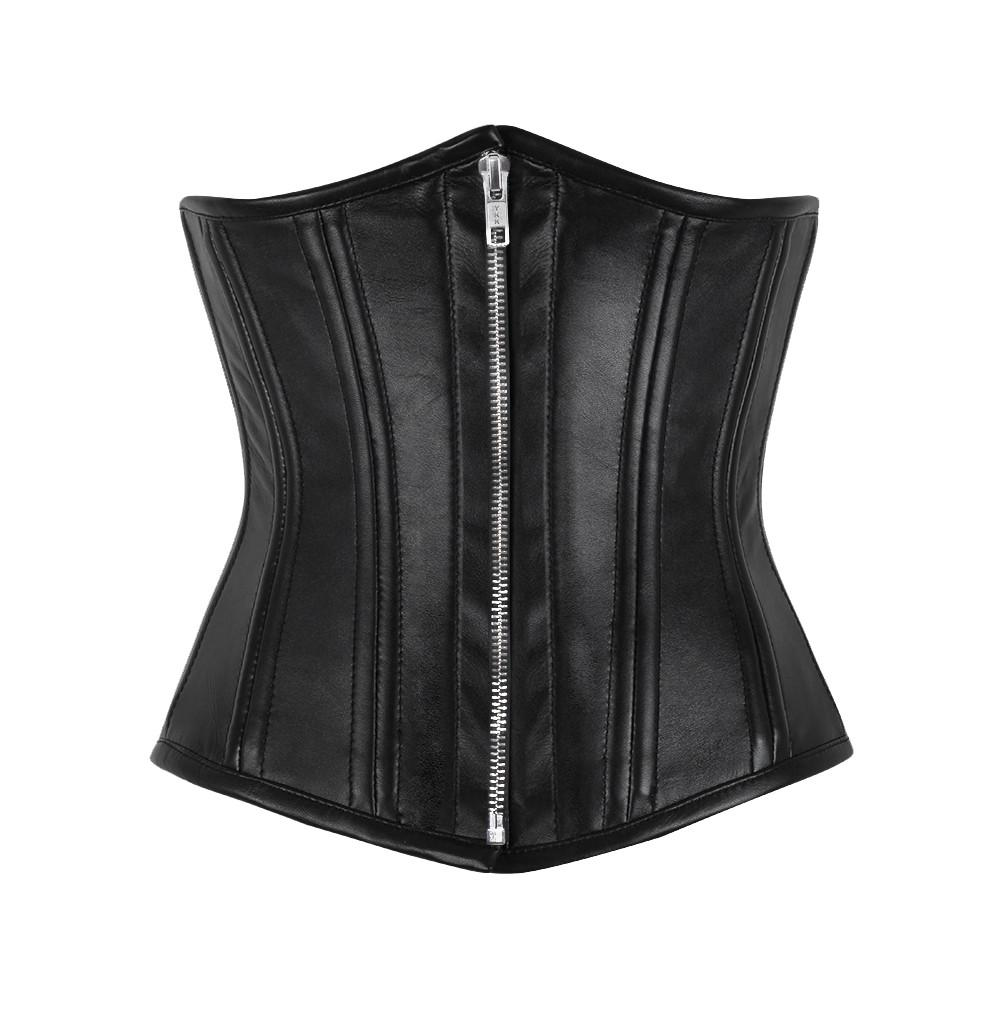 Farlane Genuine Sheep Napa Leather Waist Cincher Corset