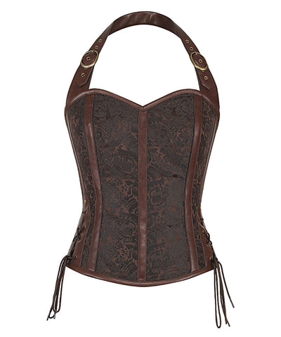 Helsin Halter Neck Steampunk Corset Top