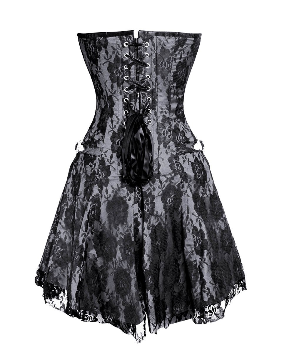 Fedot Gothic Lace Overlay Corset Dress