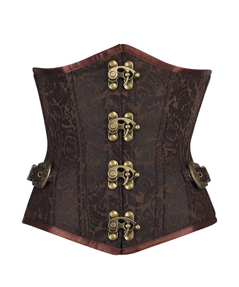 Darrian Steampunk Underbust Corset with Clasp