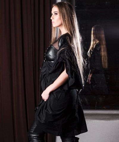 Damita Black Gothic Dual Top & Dress