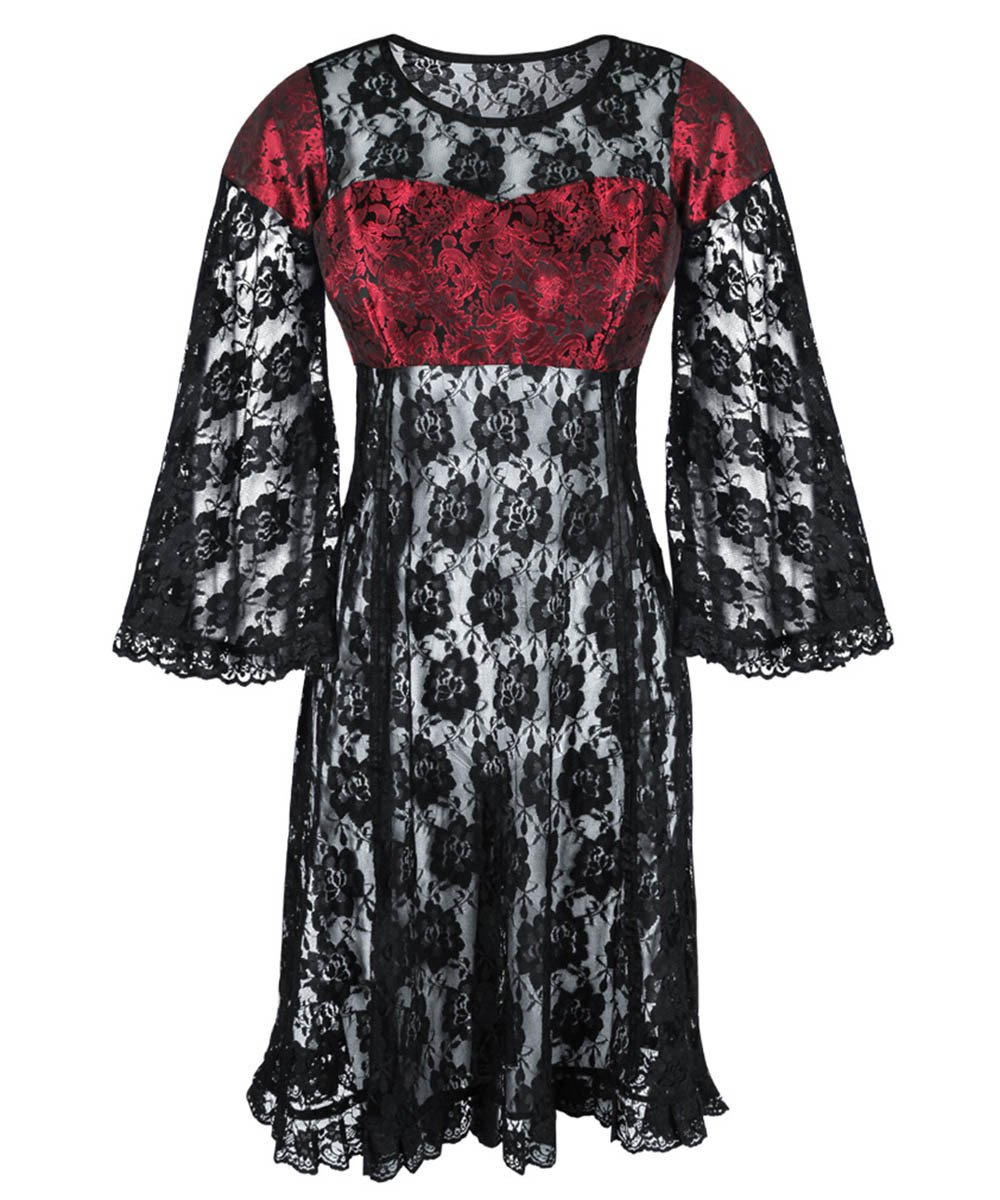 Nessia Gothic Lace Dual Top & Dress