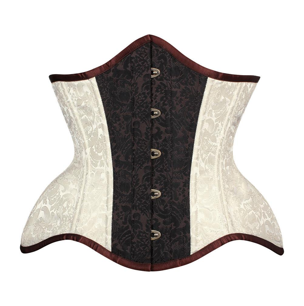Daena New Curvy Waist Training Custom Made Corset in Brocade