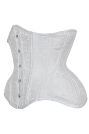 Kalynn Custom Made White Curvy Waist Training Corset