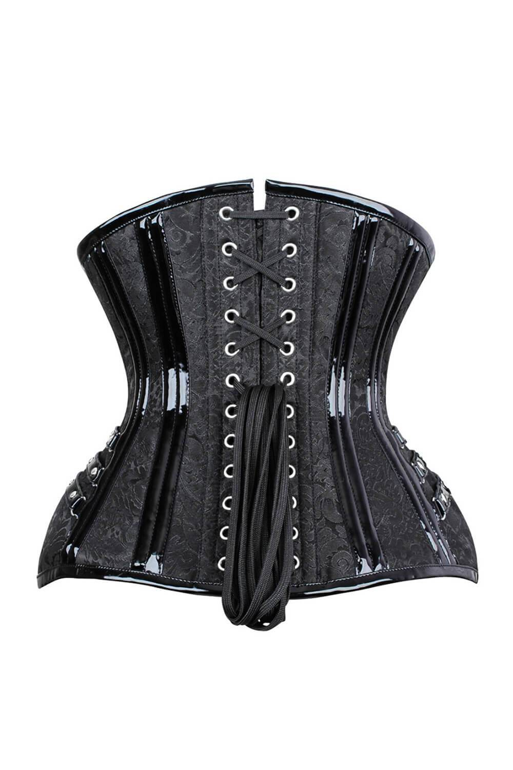 Caress New Curvy Brocade Waist Trainer with Front Zipper