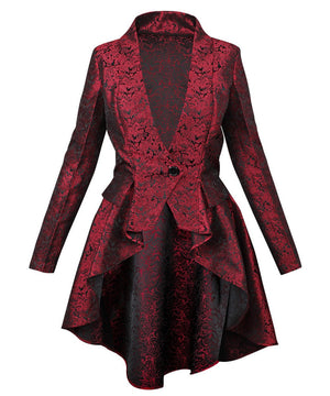 Adoree Brocade Mandarin Collar Coat