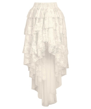 Ciera Ivory Burlesque Lace Skirt