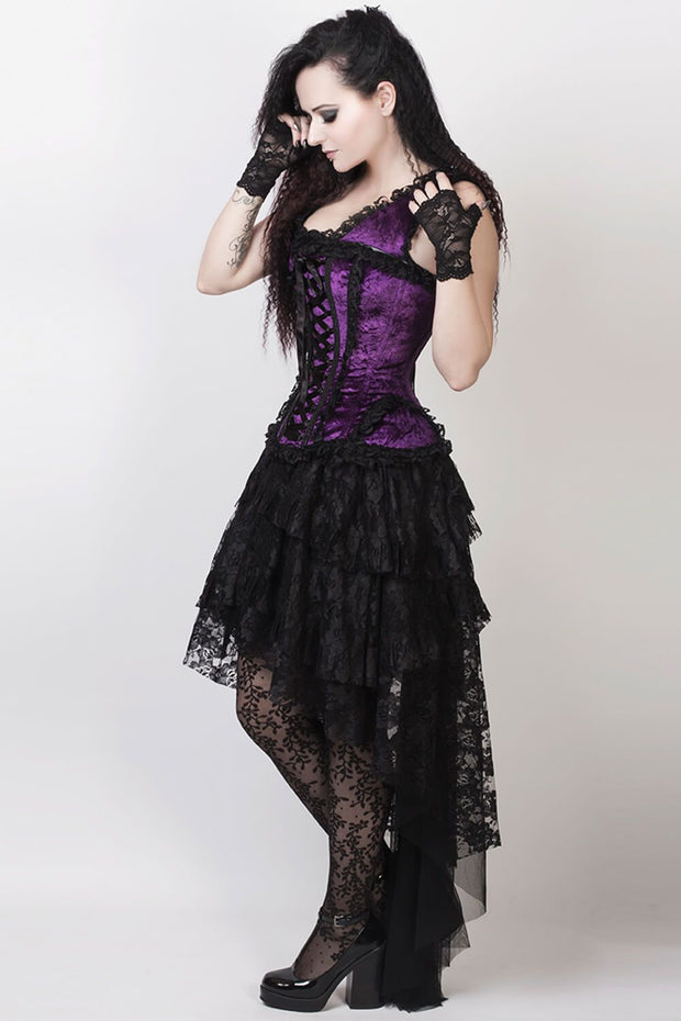 Feofil Burlesque Skirt in Black Lace