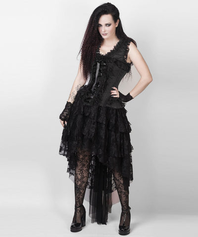 Leontiy Victorian Inspired Black Custom Made Corset Dress