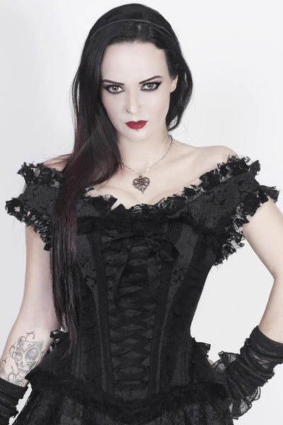 Akio Victorian Inspired Overbust Corset