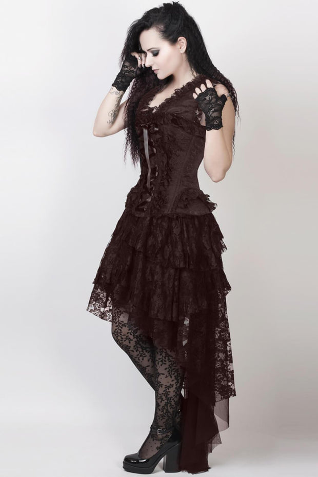 Ronnie Custom Made Victorian Inspired Brown Corset Dress