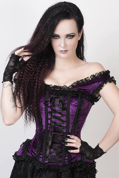 Victorian Inspired Steel Boned Purple Corset
