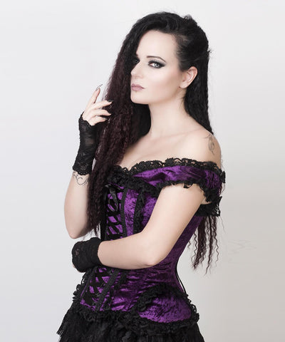 Ainoa Purple Victorian Inspired Corset