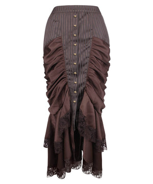 Reijo Brown Victorian Steampunk Skirt