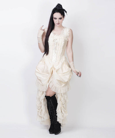 Aindrea Ivory Victorian Inspired Custom Made Dress