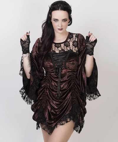Cecilio Brown Steampunk Dual Top & Dress