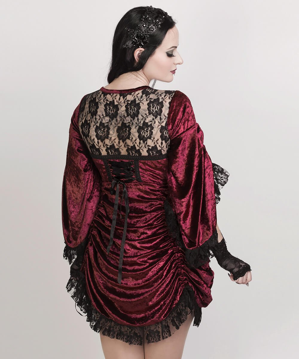 Florina Maroon Gothic Dual Top & Dress