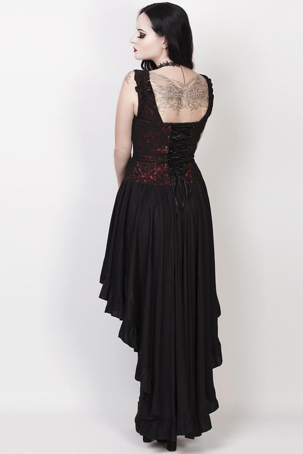 Akaki Gothic Lace Overlay Mullet Dress