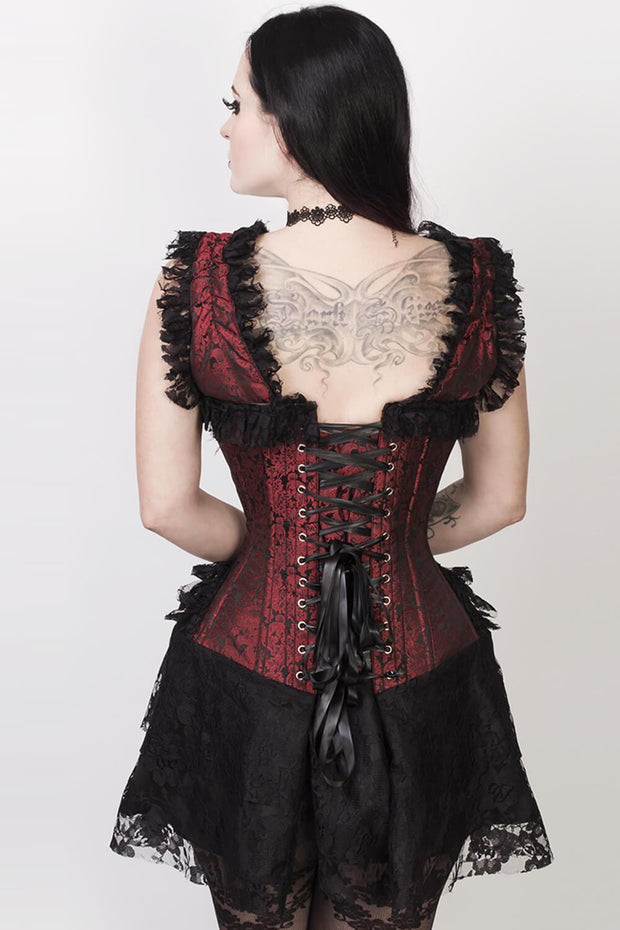 Lani Custom Made Halter Burlesque Corset Dress in Brocade