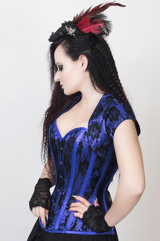 Florrie Custom Made Lace Overlay Corset with Bolero Jacket
