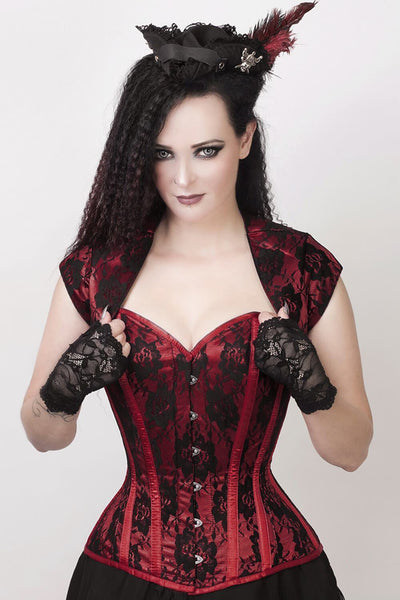 Layne Custom Made Lace Overlay Corset with Bolero Jacket