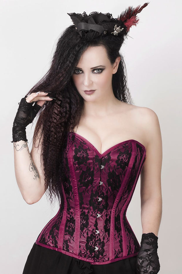 Rodica Custom Made Lace Overlay Corset with Bolero Jacket