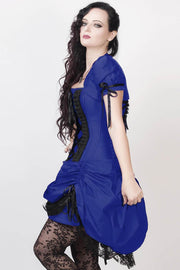 Lesleigh Custom Made Victorian Inspired Blue Corset Dress with Bolero