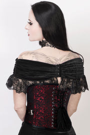 Gothic Corset with Skull Busk Opening