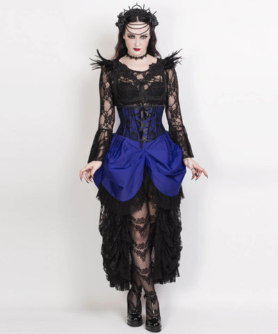 Agnar Blue Burlesque Underbust Corset Dress