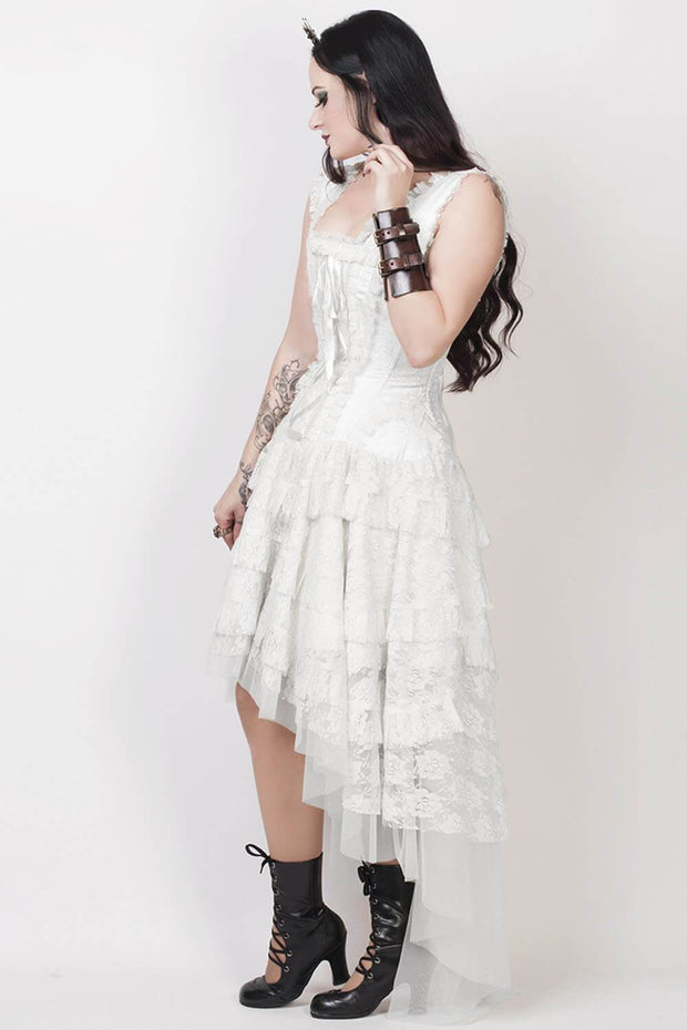 Rayyan Custom Made Victorian Inspired White Corset Dress
