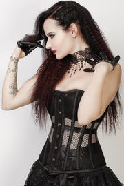Lanzo Custom Made Black Overbust Mesh Corset