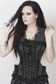 Burlesque Black Brocade Corset