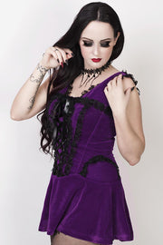 Camelia Burlesque Purple Halter Dress